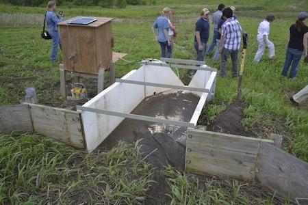 STRIPs soil erosion testing flume.